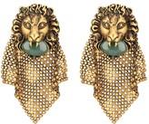 Gucci Lion head mesh earrings