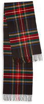 Black Brown 1826 Tartan Plaid Fringed Scarf