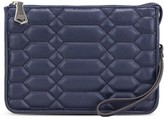 Aimee Kestenberg Leather Quilted Clutch - Magnolia