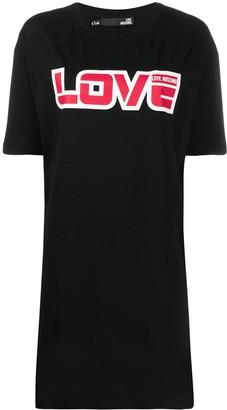 Love Moschino slogan T-shirt dress