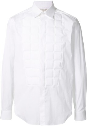 Bottega Veneta Embossed Bib Shirt