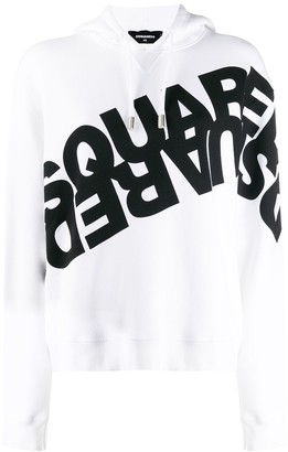 DSQUARED2 Double Logo Print Hoodie