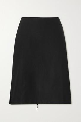 IOANNES Irene Zip-detailed Twill Skirt - Black