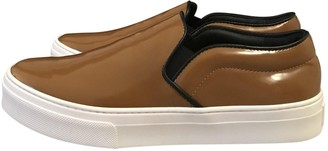 Celine Camel Patent leather Trainers