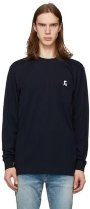 Cobra S.C. Navy Logo Long Sleeve T-Shirt
