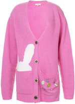 Natasha Zinko bunny detailed long-line cardigan