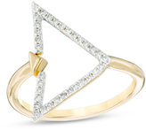 Zales 1/5 CT. T.W. Diamond Open Triangle Ring in 14K Gold