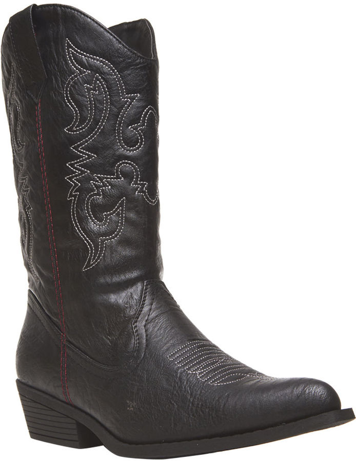 Wet Seal Embroidered Cowboy Boots