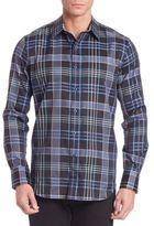 Robert Graham Lake Garda Plaid Casual Button-Down Shirt