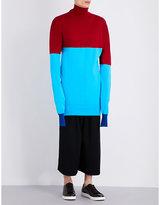 J.w. Anderson Turtleneck Striped Knitted Jumper