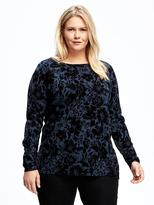 Old Navy Floral-Print Plus-Size Sweater