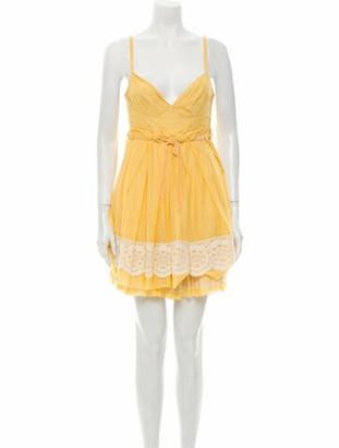 Louis Vuitton V-Neck Mini Dress Yellow