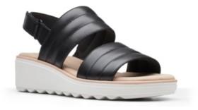 Clarks Collection Women's Jillian Flow Wedge Sandals Women's Shoes