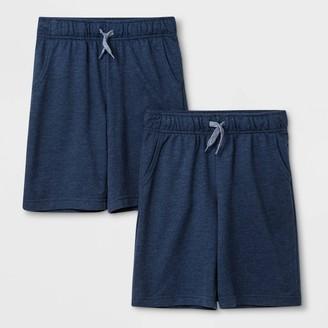 Cat & Jack Boys' 2pk Pull-On Knit Shorts - Cat & JackTM /