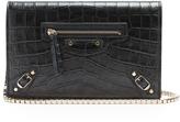 Balenciaga Classic Chain crocodile-effect cross-body bag