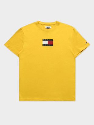 Tommy Hilfiger Small Flag T-Shirt in Star Fruit Yellow