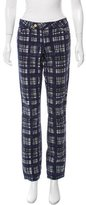 Tory Burch Conner Tab Front Mid-Rise Jeans