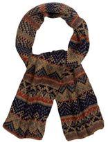 Mantaray Light Brown Fairisle Knit Scarf