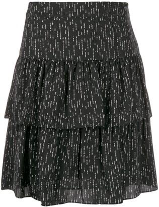 Steffen Schraut Dotted Tiered Skirt