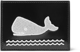 Thom Browne Whale-appliquéd Polished-leather Cardholder