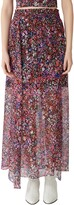 Maje Jehane Floral Silk Maxi Skirt