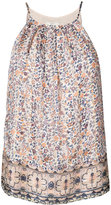 Joie floral sleeveless top - women - Silk/metal - L
