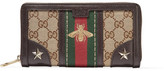 Gucci Leather-trimmed Coated-canvas Wallet