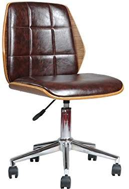 Finsbury ASPECT Padded Office Chair, Wood, Brown, 56 x 55 x 84 cm