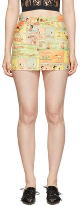 Marc Jacobs Multicolor Peanuts Edition The Micro Skirt