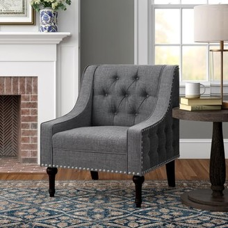 Three Posts Jamila Armchair Fabric: Smoky Gray