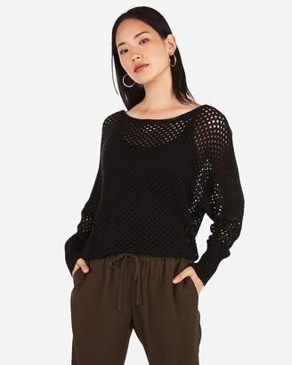 Express Open Stitch Dolman Sweater