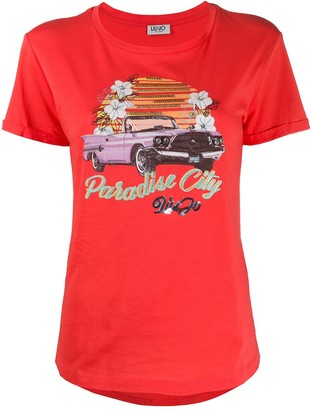 Liu Jo Paradise City embellished T-shirt