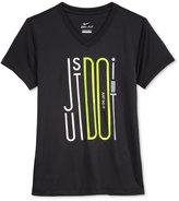 Nike Dri-Fit Graphic-Print T-Shirt, Big Girls (7-16)