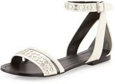 Boutique 9 Panthino Studded Flat Sandal, White