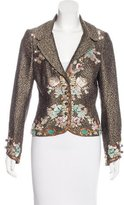 Zac Posen Silk Embroidered Blazer