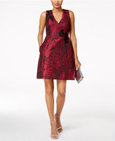 Jax Embroidered Brocade Dress