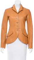 Hermes Fitted Leather Blazer