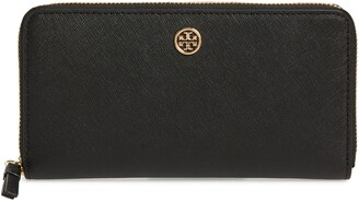 Tory Burch Robinson Zip Leather Continental Wallet