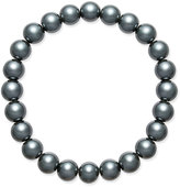 Charter Club Gray Imitation Pearl Stretch Bracelet, Only at Macy's