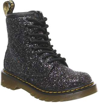 Dr. Martens Lace Boot Inside Zip Delaney (jnr) Boots Oily Black Chunky Glitter