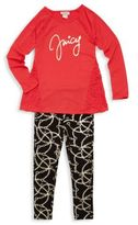 Juicy Couture Little Girl's & Girl's Two-Piece Graphic Top & Pants Set