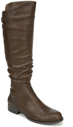 LifeStride Ruched Wide-Calf High-Shaft Boots -Faunia