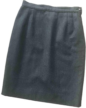 Valentino Anthracite Wool Skirt for Women Vintage