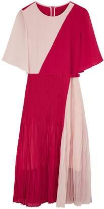 HUGO Kirana Panelled Chiffon Midi Dress