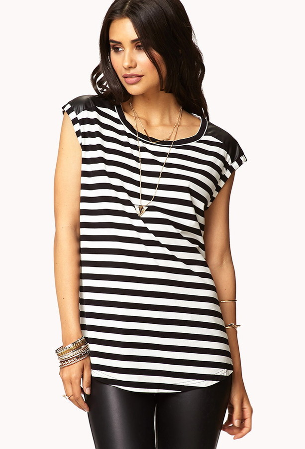 Forever 21 Chic Striped Tee
