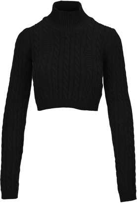 GCDS Cable Knit Cropped Jumper