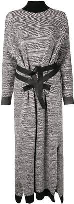 Stella McCartney Patterned-Knit Long Sweater-Dress