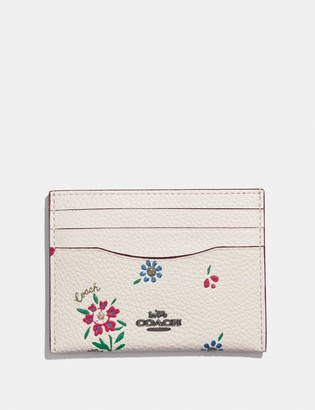 Coach Card Case With Wildflower Print