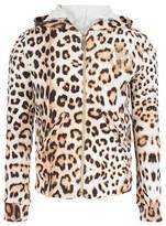 Roberto Cavalli Leopard Print Track Jacket