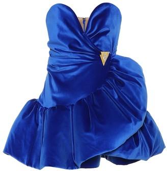 ATTICO Stretch-cotton velvet dress